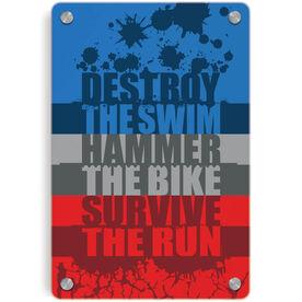 Triathlon Metal Wall Art Panel - Destroy
