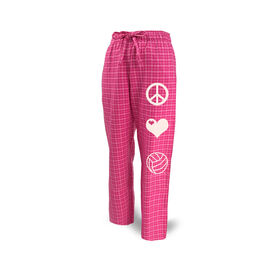 Volleyball Lounge Pants Peace Love Volleyball