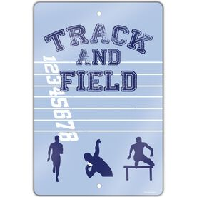 "Track and Field Aluminum Room Sign (18""x12"") Track and Field Silos"