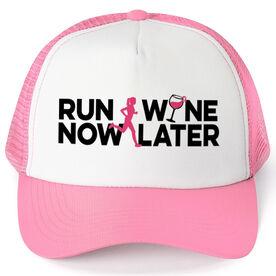 Running Trucker Hat - Run Now Wine Later