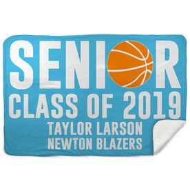 Sherpa Fleece Blanket - Personalized Basketball Senior Class Of