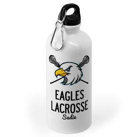 Girls Lacrosse 20 oz. Stainless Steel Water Bottle - Custom Lacrosse Logo With Team Name