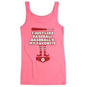 Baseball Women's Athletic Tank Top - Baseball's My Favorite