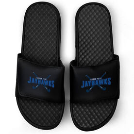 Field Hockey Black Slide Sandals - Your Logo