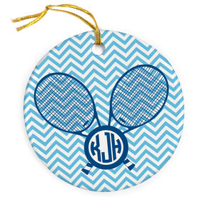 Tennis Porcelain Ornament Personalized Monogram