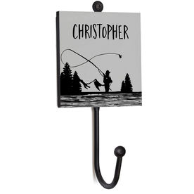 Fly Fishing Medal Hook - Fisherman and Name