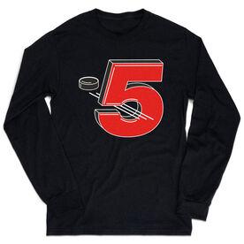 Hockey Tshirt Long Sleeve - 5 Hole