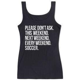 Soccer Women's Athletic Tank Top - All Weekend Soccer