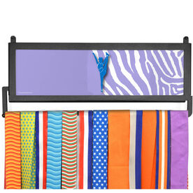 AthletesWALL Personalized Cheerleader with Zebra Pattern Medal Display