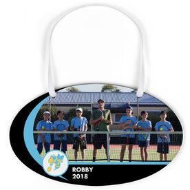 Tennis Oval Sign - Team Photo and Logo