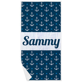 Personalized Premium Beach Towel - Anchors Ahoy