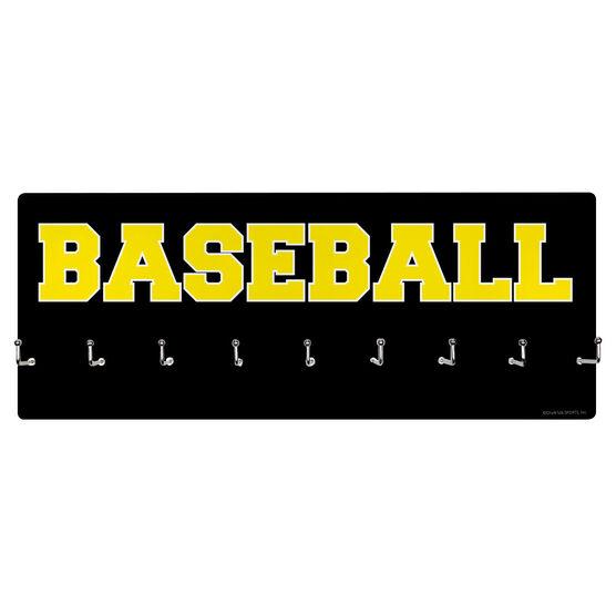Baseball Hooked on Medals Hanger - Word