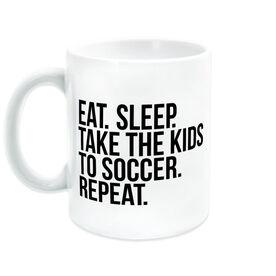 Soccer Coffee Mug - Eat Sleep Take The Kids To Soccer