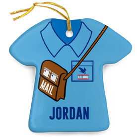 Personalized Porcelain Ornament - Mail Carrier Outfit