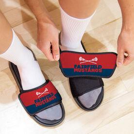 Guys Lacrosse Repwell® Slide Sandals - Team Name Colorblock