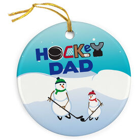 Hockey Porcelain Ornament Dad