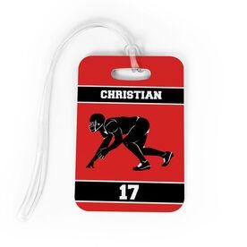 Football Bag/Luggage Tag - Personalized Linebacker