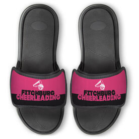 Cheerleading Repwell™ Slide Sandals - Team Name Colorblock