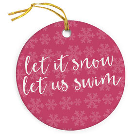 Swimming Porcelain Ornament Let It Snow Let Us Swim