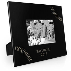 Baseball Engraved Picture Frame - Stitches