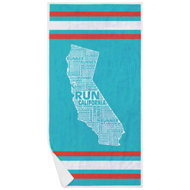 Running Premium Beach Towel - California State Runner