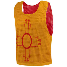 Guys Lacrosse Pinnie - New Mexico Flag