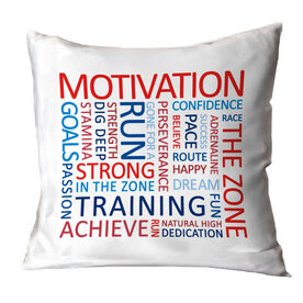 Running Throw Pillow - Motivation