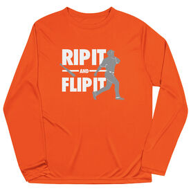 Baseball Long Sleeve Performance Tee - Rip It Flip It