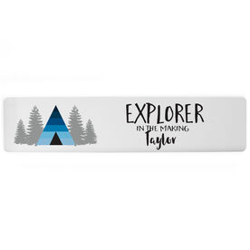 "Personalized Aluminum Room Sign - Explorer in the Making (4""x18"")"