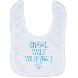 Volleyball Baby Bib - Crawl Walk Volleyball