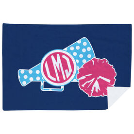 Cheerleading Premium Blanket - Monogrammed Megaphone