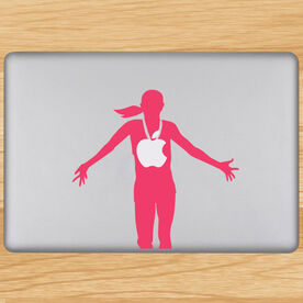 Female Marathon Winner Removable GoneForaRunGraphix Laptop Decal