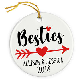 Personalized Porcelain Ornament - Besties