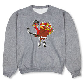 Hockey Crew Neck Sweatshirt - Hockey Top Shelf Turkey Tom