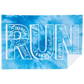 Running Premium Blanket - Run With Inspiration Tie-Dye