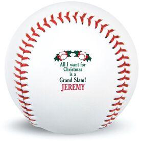 Merry Christmas Custom Baseball