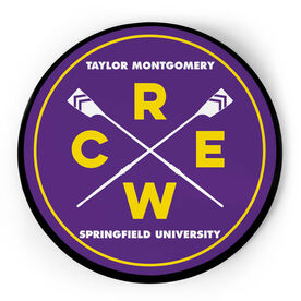 Crew Circle Plaque - Crossed Oars With Text