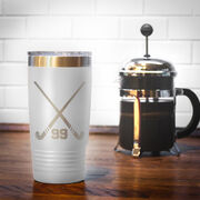 Field Hockey 20 oz. Double Insulated Tumbler - Personalized Crossed Sticks