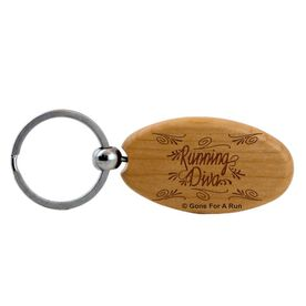 Running Diva Maple Key Chain