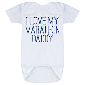 Running Baby One-Piece - I Love My Marathon Daddy