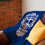 Hockey Premium Blanket - My Goal It to Deny Yours Helmet