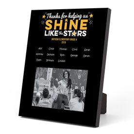 Personalized Teacher Photo Frame - Shine Like Stars