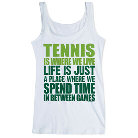 Tennis Women's Athletic Tank Top Tennis Is Where We Live