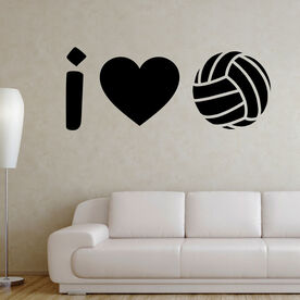 Volleyball Wall Decal I Heart Volleyball