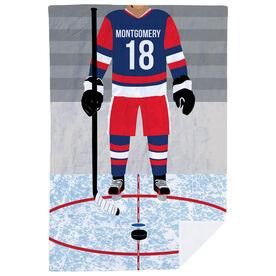 Hockey Premium Blanket - Hockey Player
