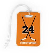 Hockey Bag/Luggage Tag - Personalized Hockey Crossed Sticks