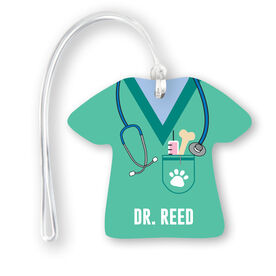 Personalized Jersey Bag/Luggage Tag - Veterinarian Scrubs