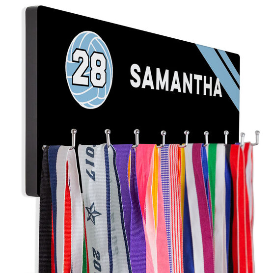 Volleyball Hook Board Volleyball Name with Stripes