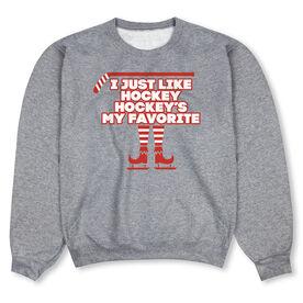 Hockey Crew Neck Sweatshirt - Hockey's My Favorite