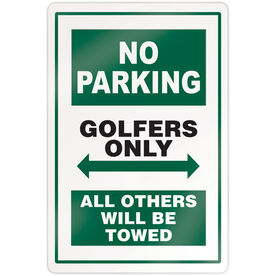 "Golf 18"" X 12"" Aluminum Room Sign - No Parking Sign"